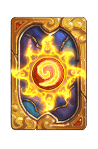 Golden Skies kártya hátlap