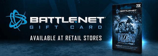Megérkezett a Battle.net ajándékkártya
