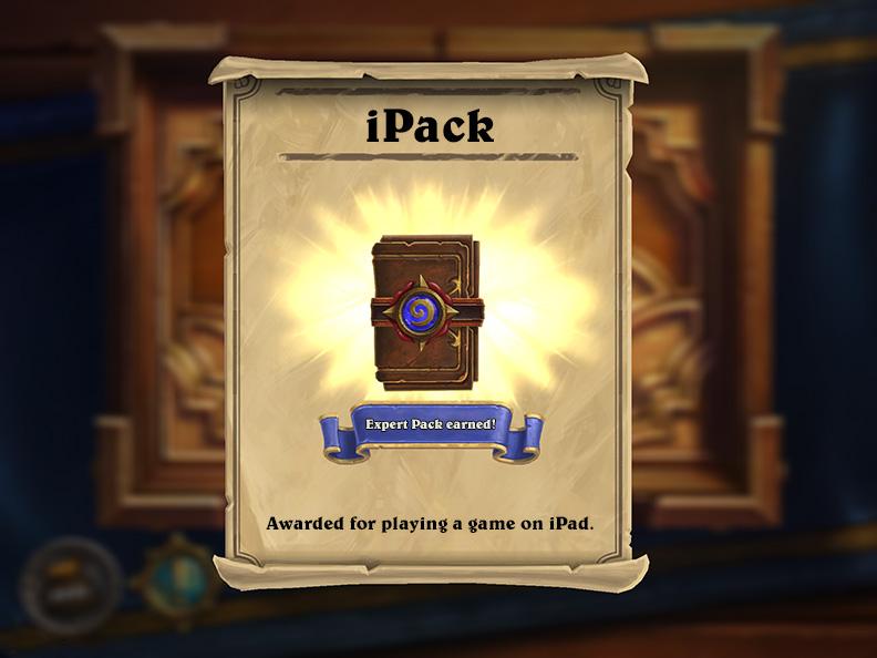 Hearthstone iPack card pack