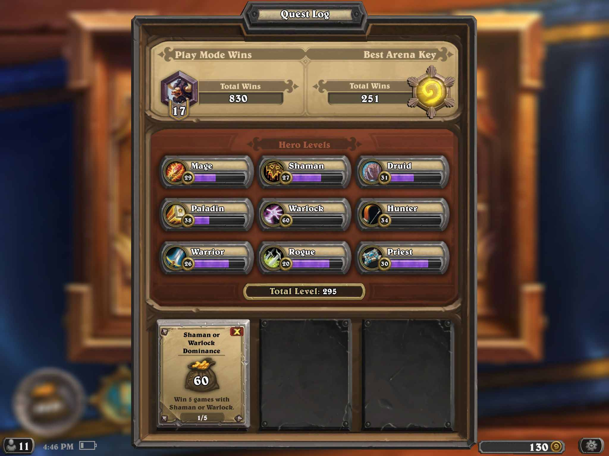 iPad Hearthstone