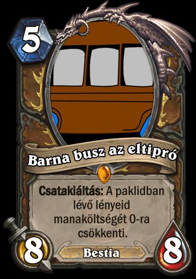 Barna Busz az eltipró