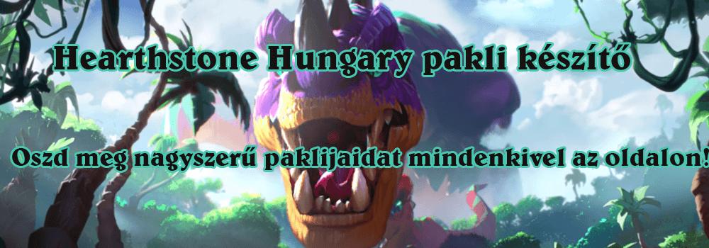 Hearthstone Hungary pakli készítő