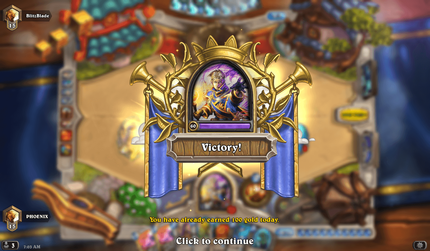 priest victory hearthstone