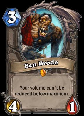 Ben Brode kártya