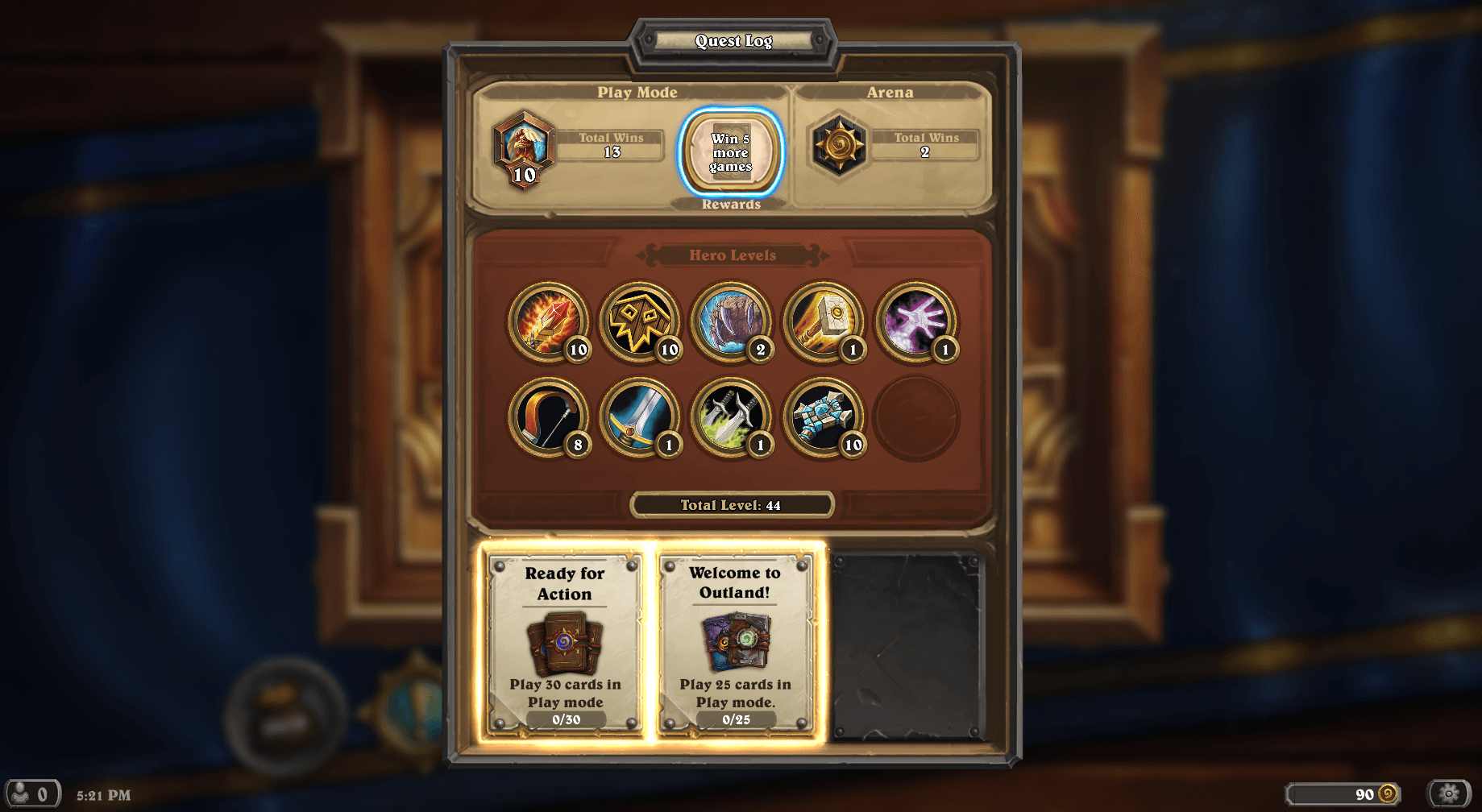Ready for Action Hearthstone