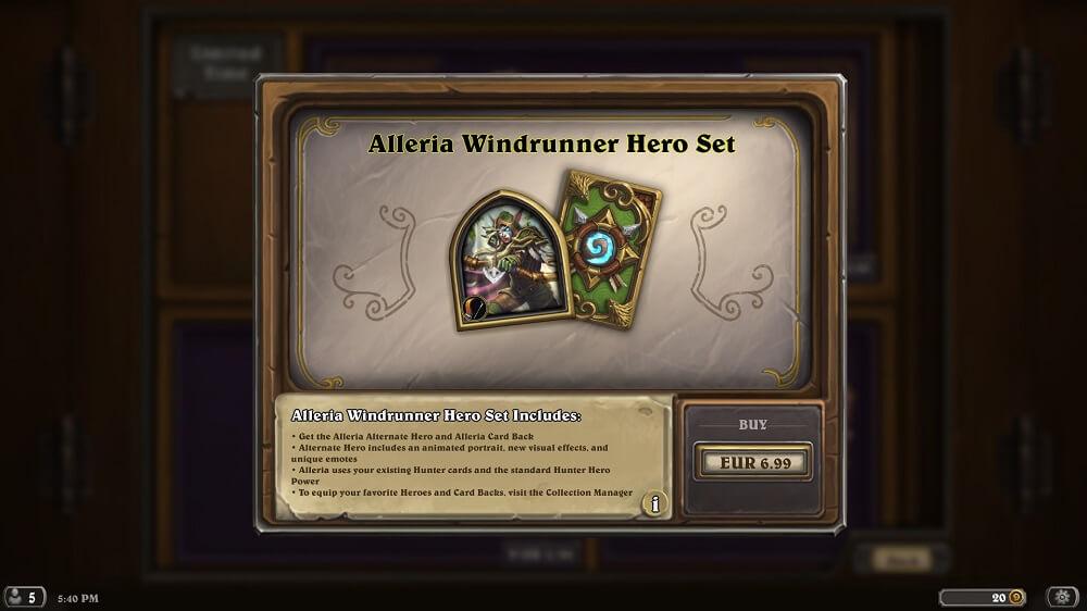 Alleria Windrunner hős szett