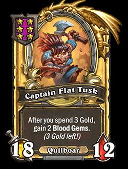 Captain Flat Tusk Golden