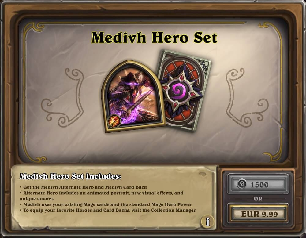 Medivh hős szett