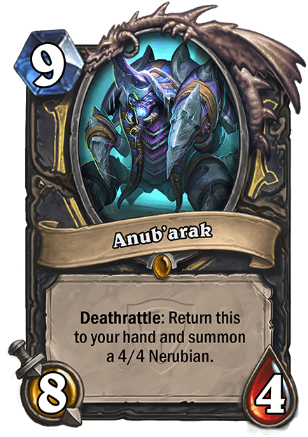anubarak hearthstone kártya