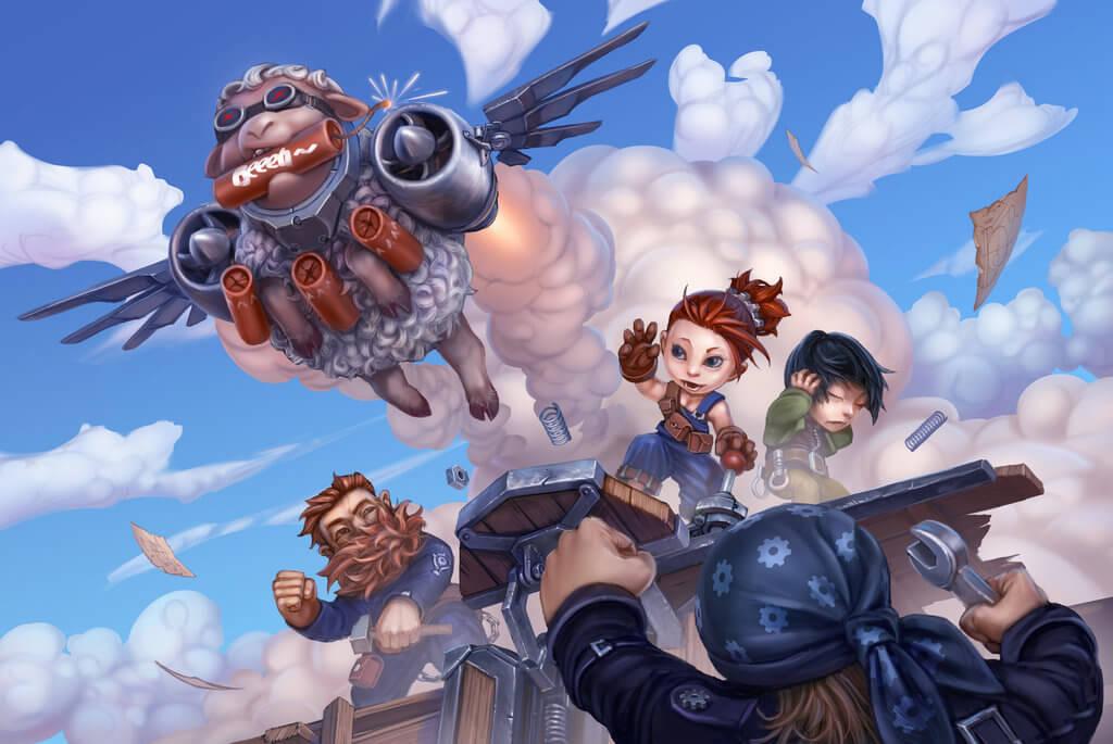 explosive sheep goblins vs gnomes artwork