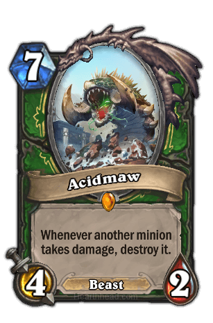 acidmaw hearthstone kártya