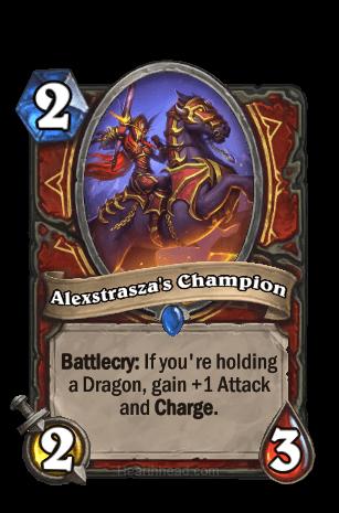 alexstraszas champion hearthstone kártya