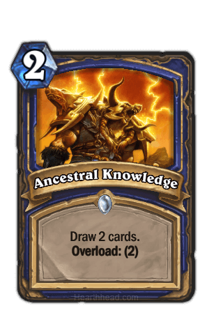 ancestral knowledge hearthstone kártya
