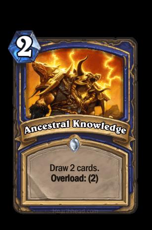 ancestral knowledge hearthstone kártya