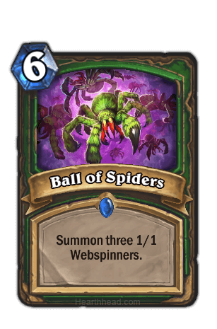ball of spiders hearthstone kártya