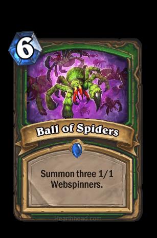 ball of spiders hearthstone kártya