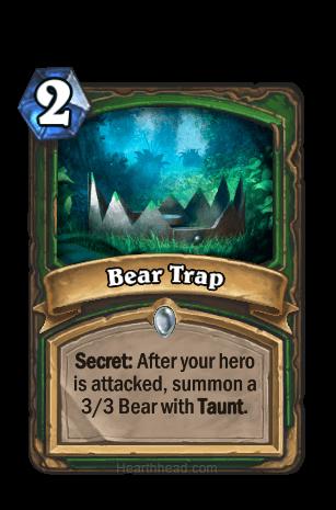 bear trap hearthstone kártya