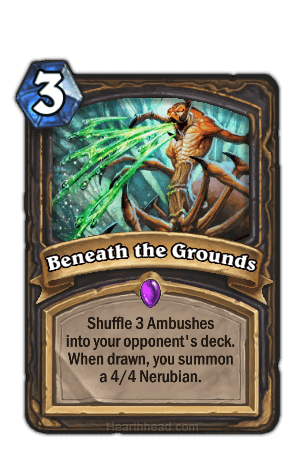 beneath the grounds hearthstone kártya