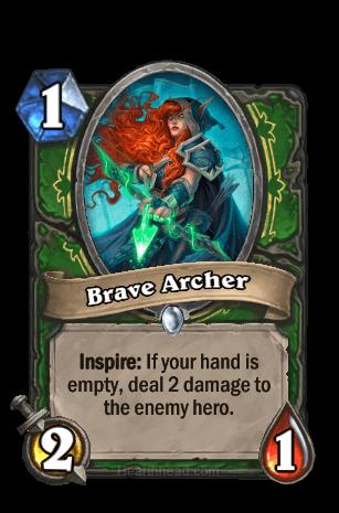 brave archer hearthstone kártya