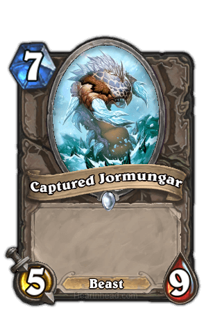 captured jormungar hearthstone kártya