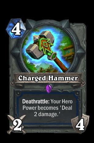 charged hammer hearthstone kártya