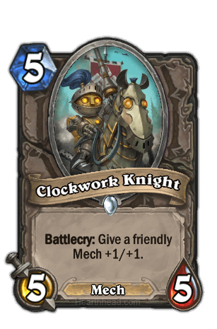 clockwork knight hearthstone kártya