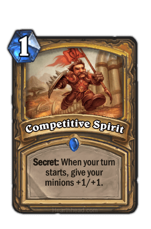 competitive spirit hearthstone kártya