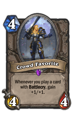 crowd favorite hearthstone kártya