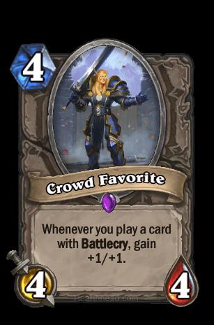 crowd favorite hearthstone kártya