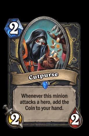 cutpurse hearthstone kártya