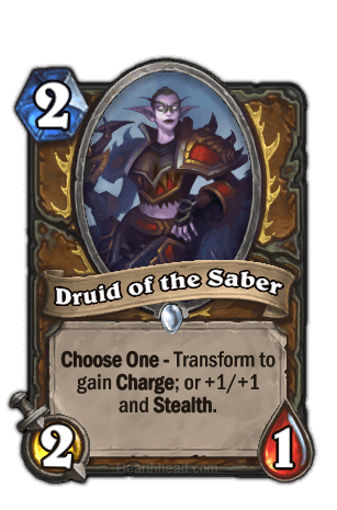 druid of the saber hearthstone kártya
