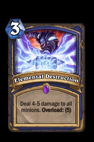 elemental destruction hearthstone kártya