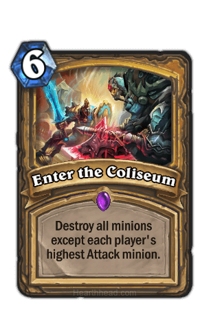 enter the coliseum hearthstone kártya