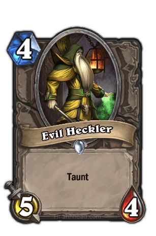 evil heckler hearthstone kártya
