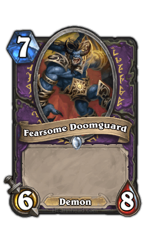 fearsome doomguard hearthstone kártya