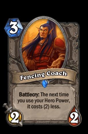 fencing coach hearthstone kártya