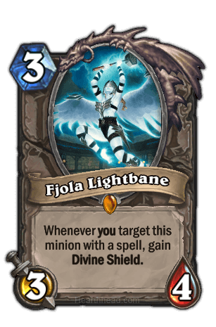 fjola lightbane hearthstone kártya