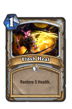 flash heal hearthstone kártya