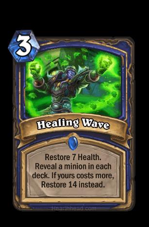 healing wave hearthstone kártya