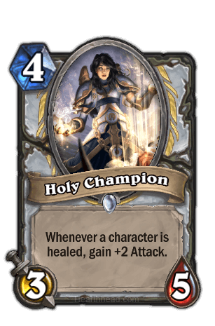 holy champion hearthstone kártya