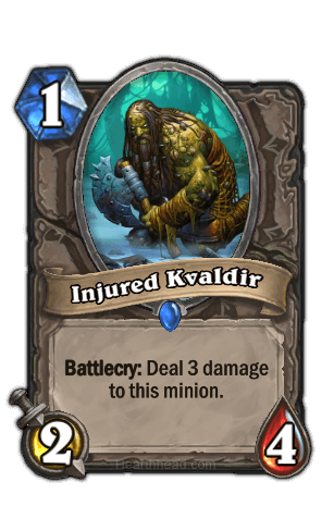 injured kvaldir hearthstone kártya
