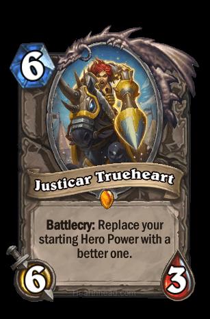 justicar trueheart hearthstone kártya