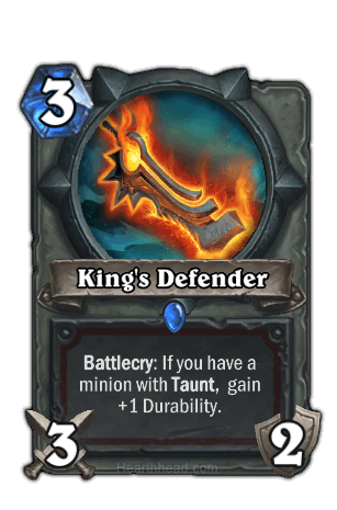 kings defender hearthstone kártya