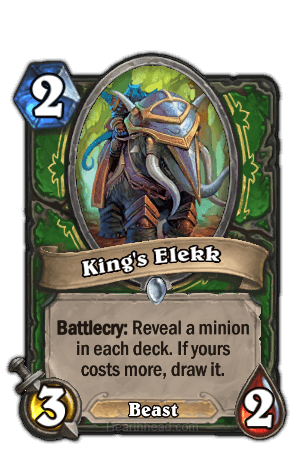 kings elekk hearthstone kártya