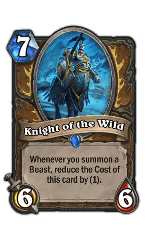 knight of the wild hearthstone kártya