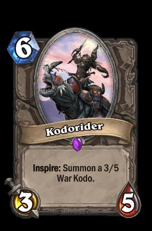 kodorider hearthstone kártya