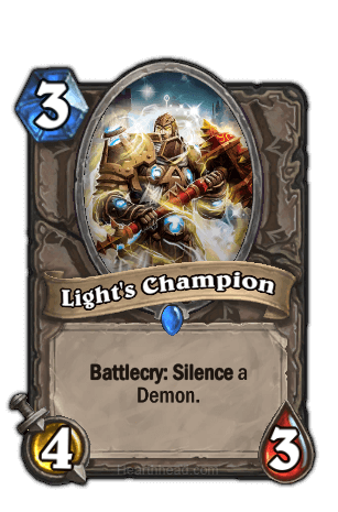 lights champion hearthstone kártya