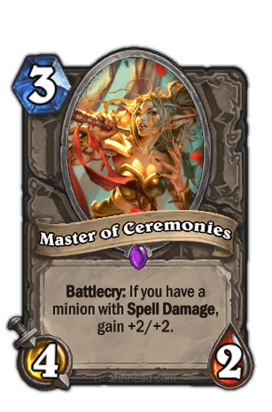 master of ceremonies hearthstone kártya