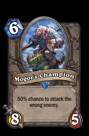 mogors champion hearthstone kártya