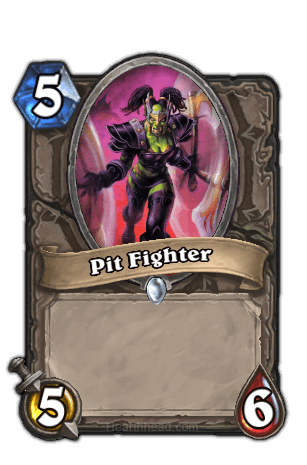pit fighter hearthstone kártya